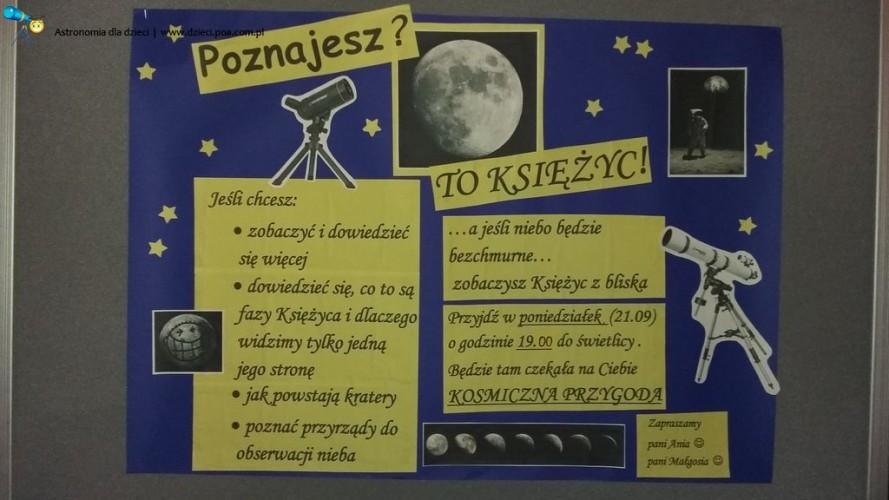 O Księżycu w Ośrodku Szkolno-Wychowawczym dla Dzieci Niesłyszących w Poznaniu